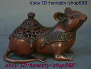 Old Coins Rare Coin Chinese Copper Feng Sui 12-year-old Rat Incense Burner