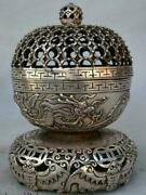 Old Coins Rare Coin Ancient Silver Of China Hollow Sculpture Bat Dragon Incense