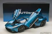 Autoart Ford Gt 2017 Liquid Blue In 1/12 Scale New Release