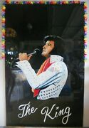 Elvis Presley Portrait On 6and039 By 4and039 Glass - Stunning Artwork Titled The King
