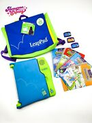 Leap Frog Leap Pad Learning System W/ Backpack, 5 Books And Cartridges
