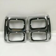 1989 Jeep Wagoneer Limited Xj Headlight Bezels Left And Right Oem
