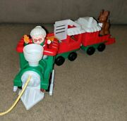 Fisher-price Little People Musical Christmas Train Toy With Mrs Claus And Reindeer