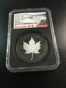 2020 Incuse Maple Leaf Silver 1oz Coin With Rhodium Fr Pf70 Ngc Canadian 1428