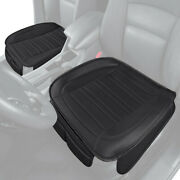 Universal Car Front Seat Cushion, Black Faux Leather 2-pack