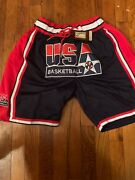 Usa Dream Team Basketball Shorts With Pockets 1992 Olympic Vintage Just Don