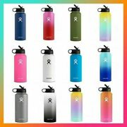 🔥hydro Flask Wide Mouth Stainless Steel Bottle With Cap Multicolor 18/32/40oz