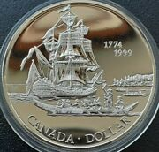 Canada 1 Dollar 1999 925 Silver Proof Discovery Of Queen Charlotte Isle Coa