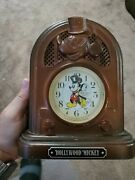 Sieko Hollywood Mickey Collectible Clock - Plastic Faux Wood - Tested Works