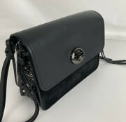 Coach Bowery Spiked Calf Leather Crossbody Shoulder Bag Purse 59467 Nwt