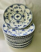 Royal Copenhagen Blue Fluted Full Lace 1086 First Quality 12 Salad Plate