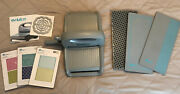 Evolution Universal Craft Tool By Lifestyle Crafts + Embossing Folders Pre-owned