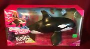 1995 Mattel Barbie Keiko Whale Ocean Friends Orca Large 14 Sounds And Squirt Toy