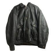 Canyon Ridge 100 Leather Jacket Mens Brown Heavy Bomber Zip Up Lined 2xb