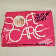 Vintage Soft Care Birdseye Baby Cloth Diapers 12 Curity 14.5 X 20 Prefolded