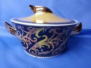 Versace Soup Tureen/bowl With Lid Rosenthal Barocco Black Gold Baroque