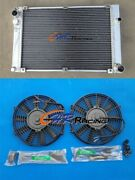Aluminum Radiator And 2x Fan For Porsche 944 2.5l Turbo And S2 3.0l 1986-1991 Manual