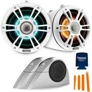 Fusion Sg-flt882spw 8.8'' Sports Grille White Tower Speakers, Rgbw Led With