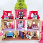 Fisher-price Loving Family Dream Dollhouse Lot With Furniture, 4 Doll Figures