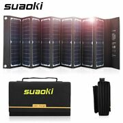 60w Solar Panel Charger 18v Dc And 5v Usb For Laptops And Phones Power Supply