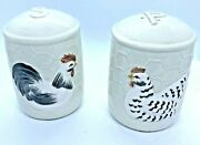 Vintage Fitz And Floyd Oci Omnibus Chicken Salt And Pepper Shakers 1982 Japan
