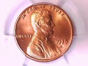 1975 D Lincoln Memorial Cent Penny Pcgs Ms 66 + Rd 40834767