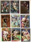 Steve Young Flair Hot Numbers/finest/bowman Gold Foil/sp+++lot Of 9 High-end🎆