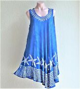 Sale India Boutique Umbrella Style Short Dress /cover Up Plus Size, One Size Nwt