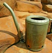 Vintage Antique Early Oil Can Swingspout Nonspil Top Dispenser