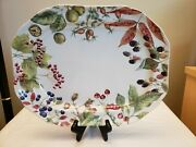 Williams Sonoma By Spode Woodland Harvest Platter Vgc Berries And Leaves