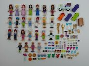 Lot Of 25 Authentic Lego Friends Girl Female Minifigures + Accessories/ Extras