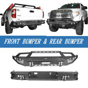 Textured Assemble Front + Rear Bumper Bars Combo For Tundra 2014-2021 Pickup