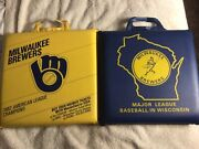 Set Of 2 Vintage Milwaukee Brewer Stadium Seat Cushions 1982, And Early 70's