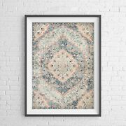 Lotus Trader - Elegant Persian Pattern Poster Picture Print Sizes A5 To A0 New