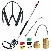 19 Feet Pressure Washer Telescoping Extension Wand Lance 4000 Psi Gutter Cleaner