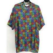 Gg Psychedelic Collection Print Shirt 601604 Short Sleeve Shirt Size M 46
