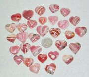 Natural Rhodochrosite Heart Cabochon Loose Gemstone Size 25x25mm Aaa Quality