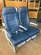 Aircraft B767-300 Coach Main Cabin Seats Double Leather