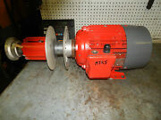 Brook Hawker D132m Motor With Variable Speed Drive And Pulley Drive 7.5kw 10hp