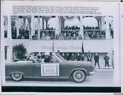 1965 Gov Moore Passes Pres And Mrs Johnson In Reviewing Stand Event Wirephoto 6x8