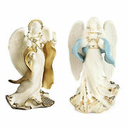 Lenox First Blessing Nativity Angels Peace And Hope Figurines Set 2 Christmas New