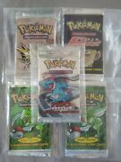 Pokemon 1st Edition Booster Packs Neo Genesis Team Rocket Fossil X2 And Jungle