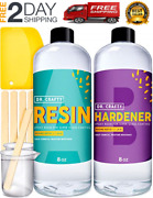 Anti Uv Epoxy Resin And Hardener Kit Crystal Clear Easy Cast For Diy Art Craft R