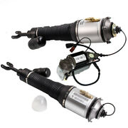 2pc Front Air Shock For Bentley Continental Gt Flying Spur W/ Air Pump 3d0616007