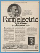 1923 Farmelectric Corp Poole Engineering And Machine Company Baltimore Md Print Ad
