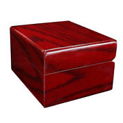 Red Vintage Wood Watch Display Case Box Jewelry Storage Small Portable Showcase