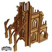 Knights Of Dice Terrain 28mm Gothic Ruins - Cathedral 1 Pack Sw