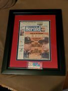 Roger Clemens Pedro Martinez Signed/autograph Boston Herald 1999 Yankees Red Sox