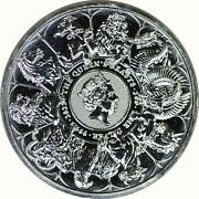 2021 Great Britain 2 Oz Silver Queen's Beasts Collector Completer Coin Bu