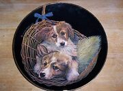 Retired Sally Miller Collie Puppies Plate Double Delight 963
